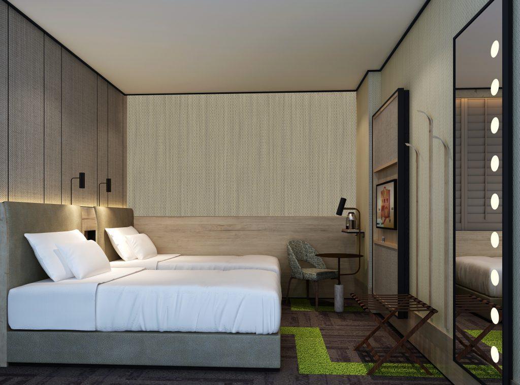 Aerotel Heathrow T2 bedroom
