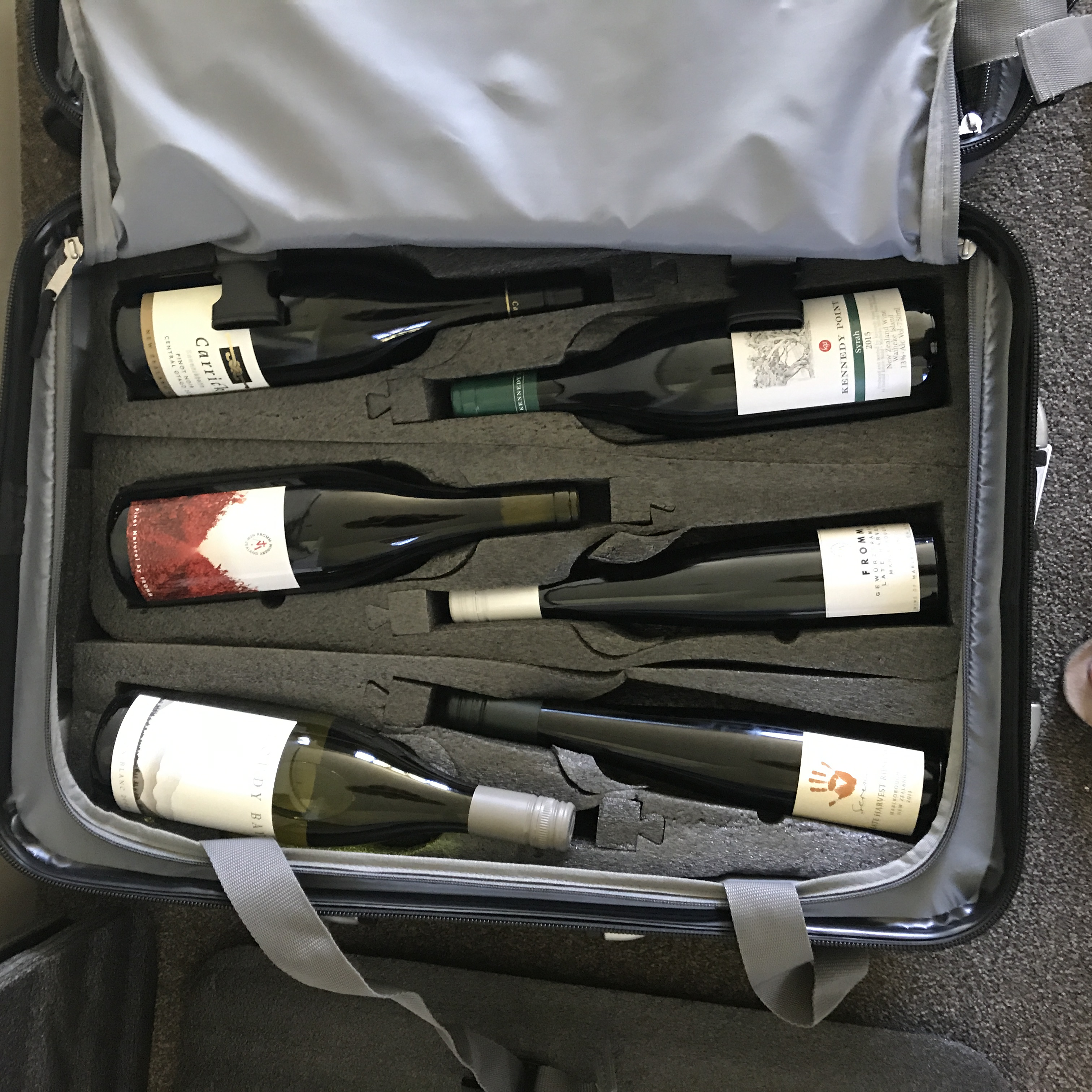 VinGardeValise Grande which holds 12 bottles wine holidays