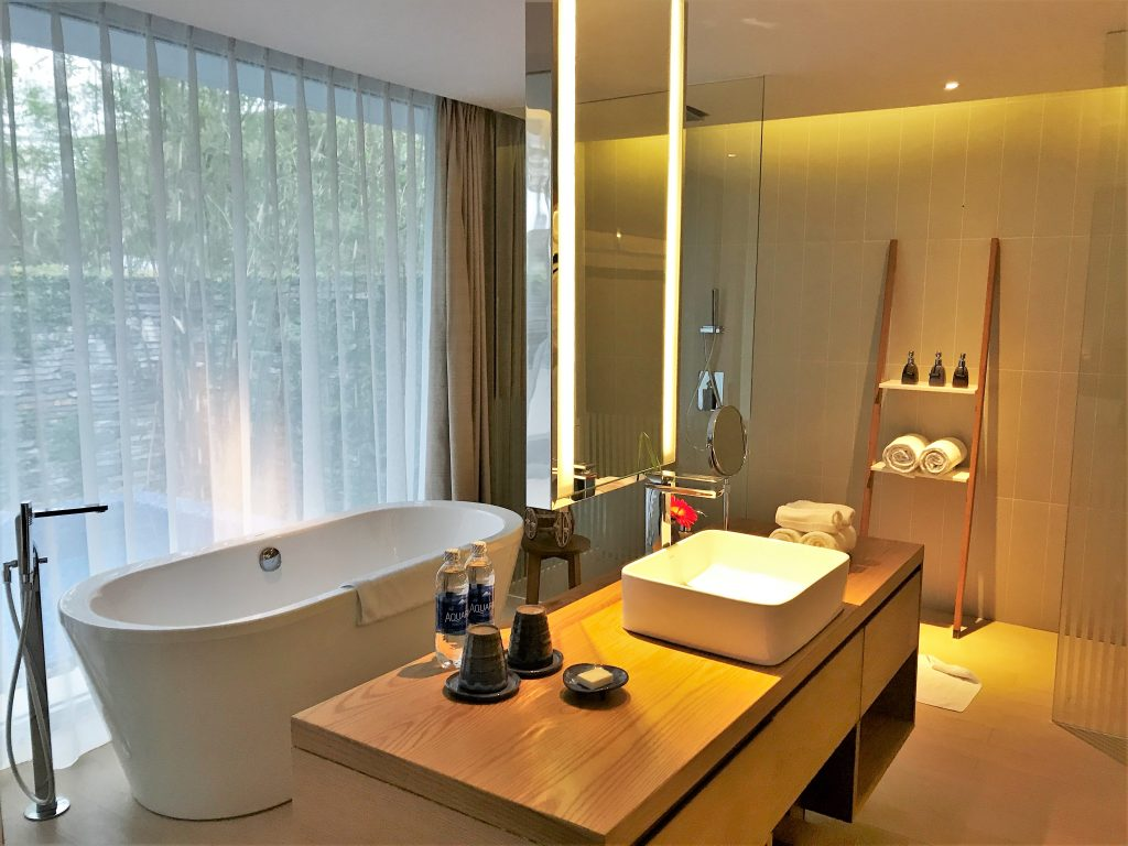 Naman retreat review danang vietnam bathroom pool villa