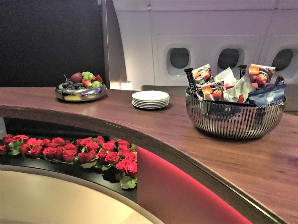 Qatar A380 business class review - Doha to London night flight
