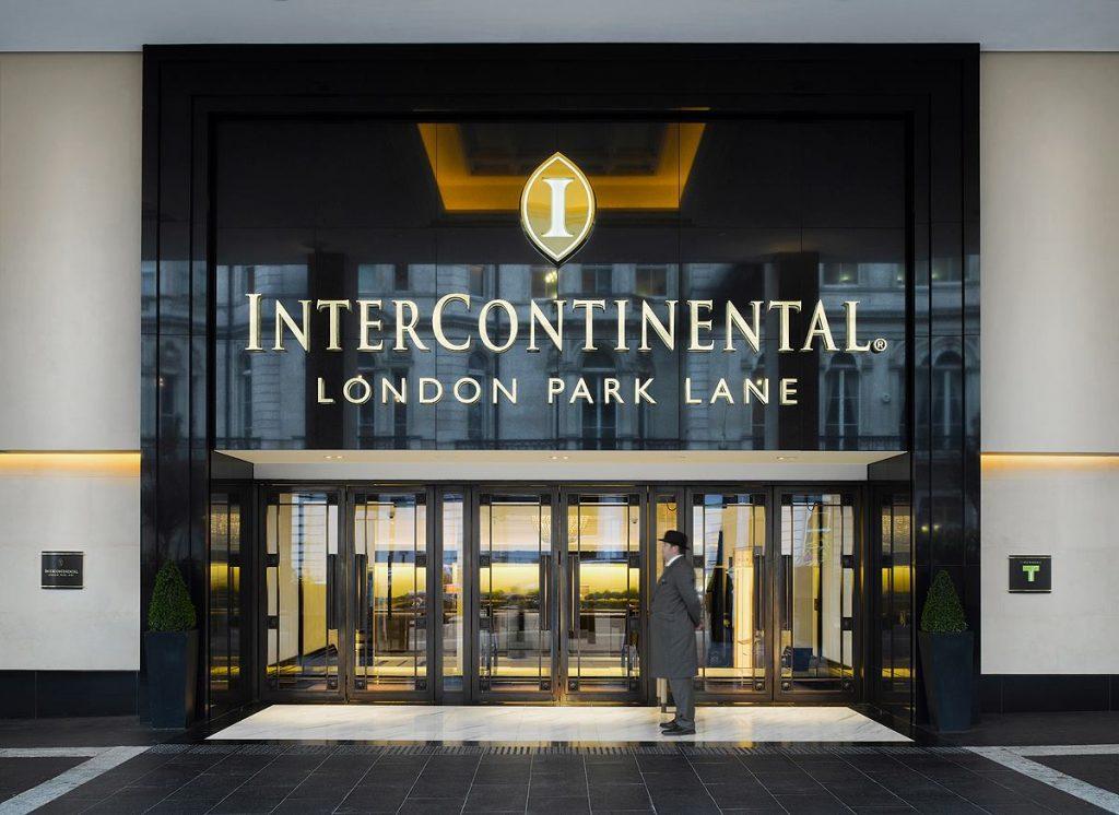 Intercontinental London Park Lane review entrance