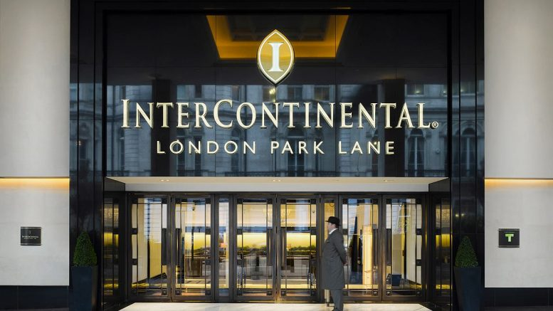 Intercontinental London Park Lane review entrance