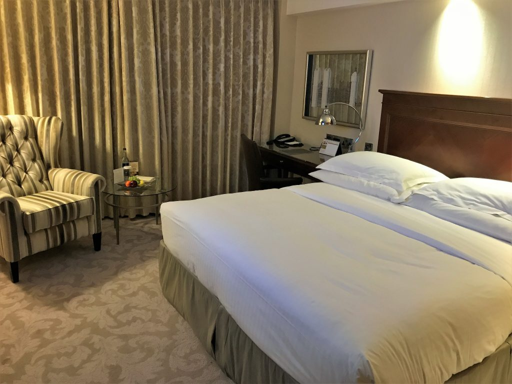 Intercontinental London Park Lane review bedroom at turndown