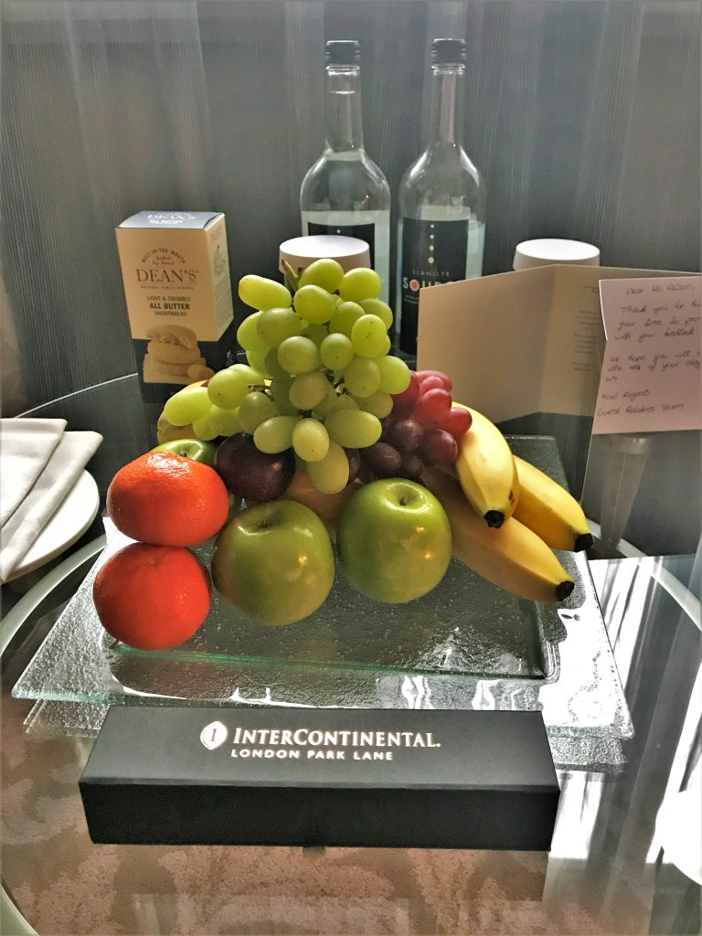 Intercontinental London Park Lane review fruit