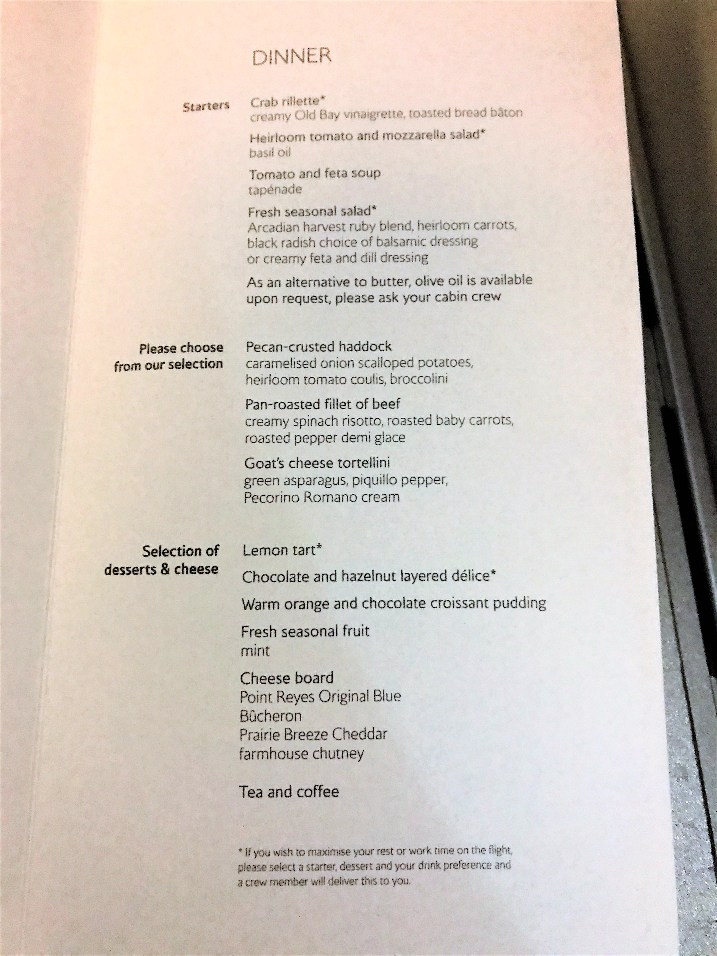 BA new club world food review