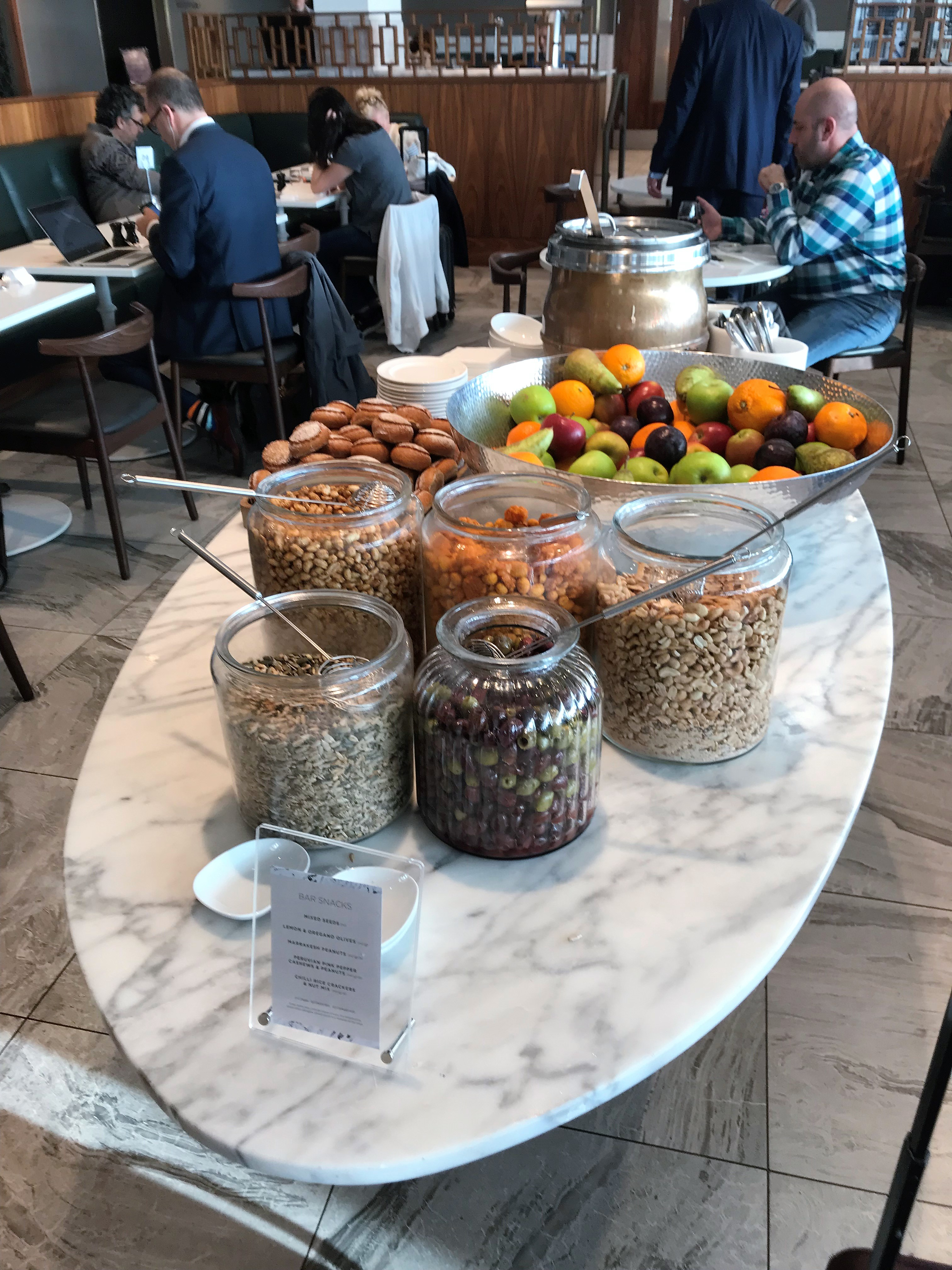No 1 lounge Gatwick South review buffet table