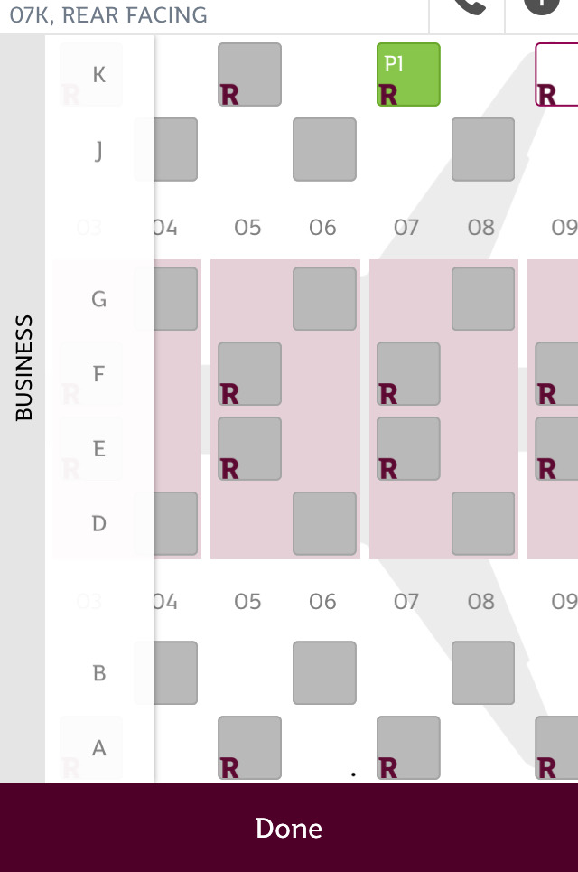 Qatar Airways QSuites A350-900 business class review seat map