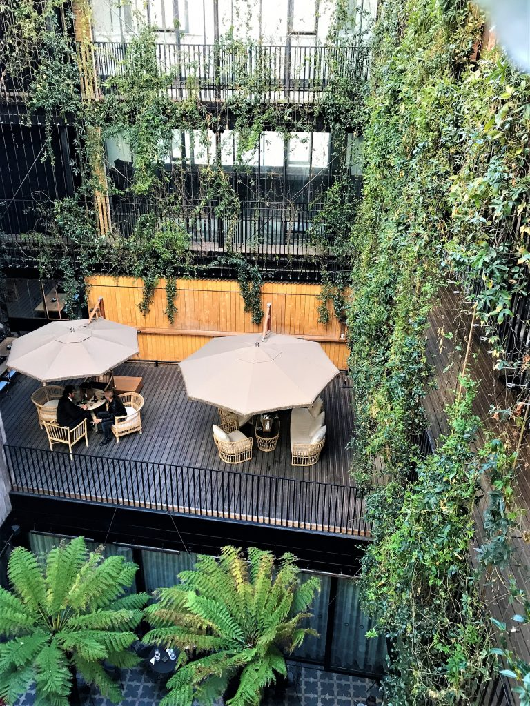The Mandrake, Fitzrovia London review courtyard