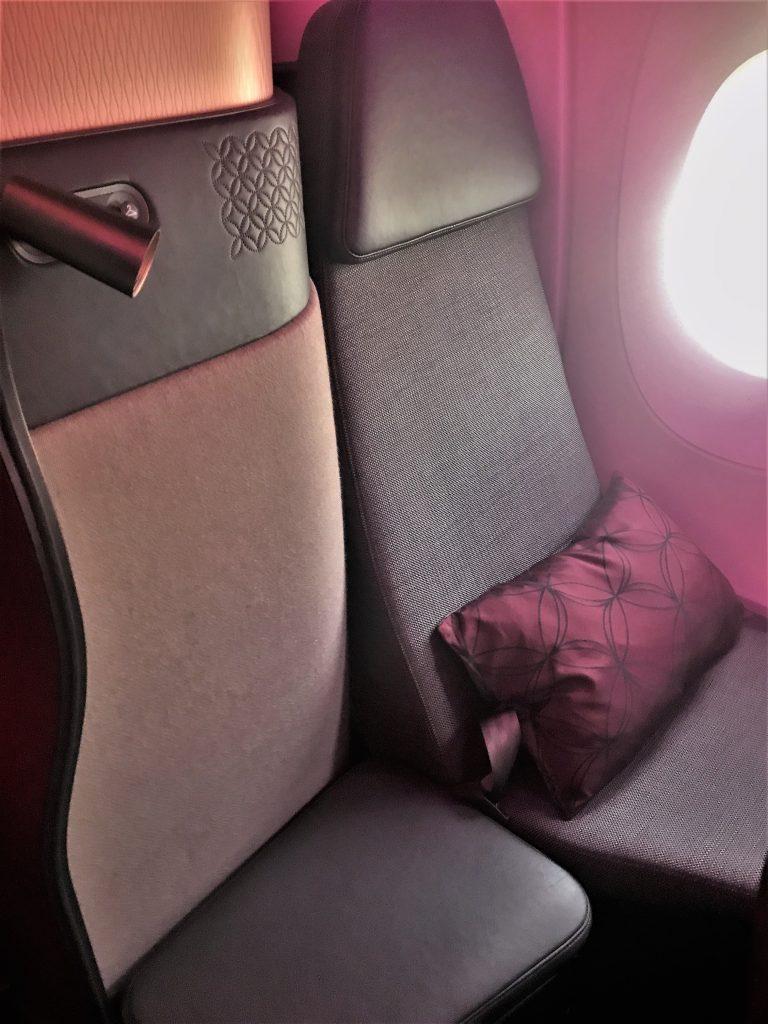 Qatar Airways QSuites A350-900 business class review 7K