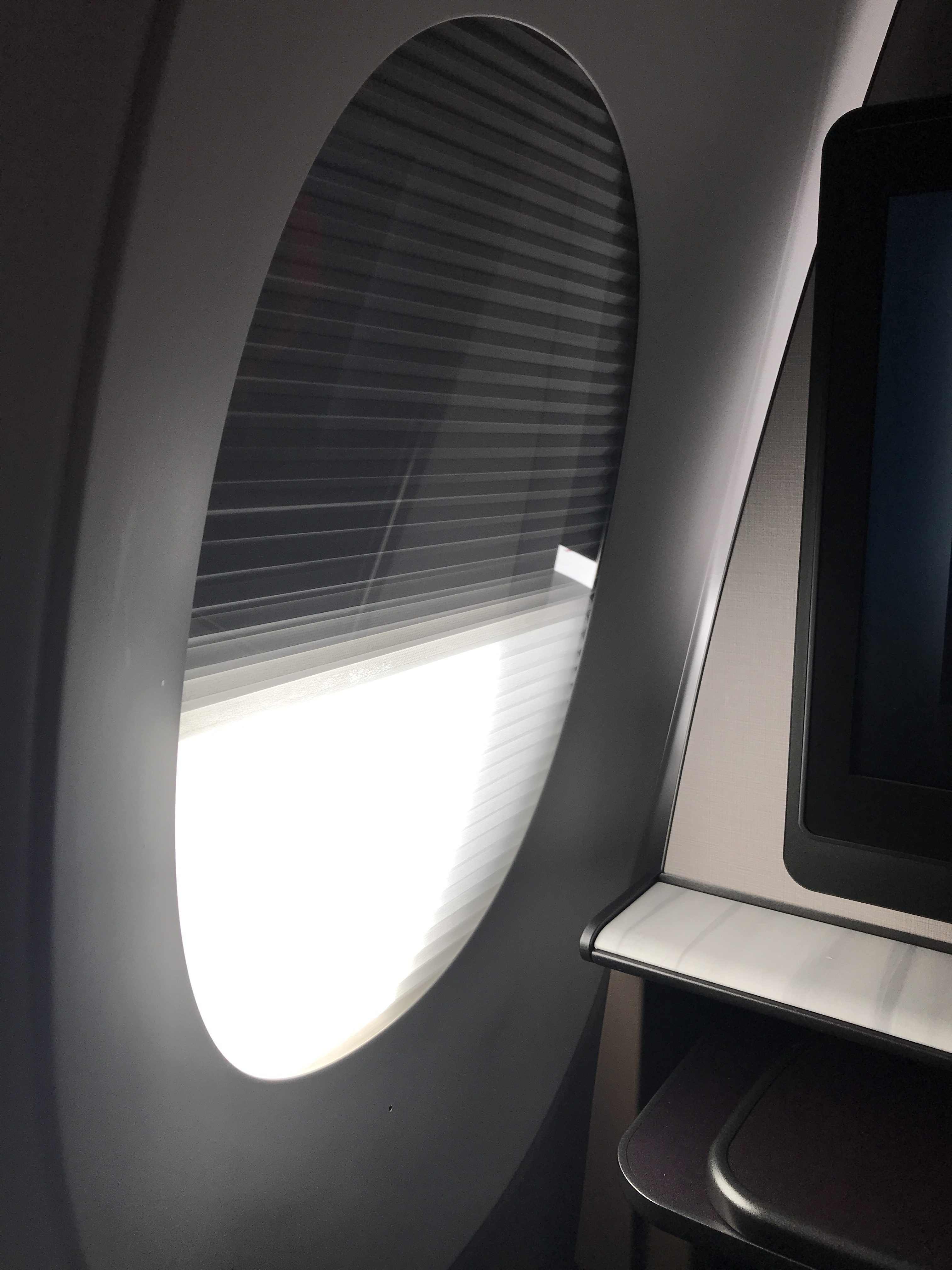 Qatar Airways QSuites A350-900 business class review blind