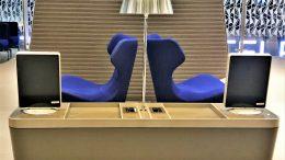 Qatar Airways Business Class Al Mourjan lounge Doha review
