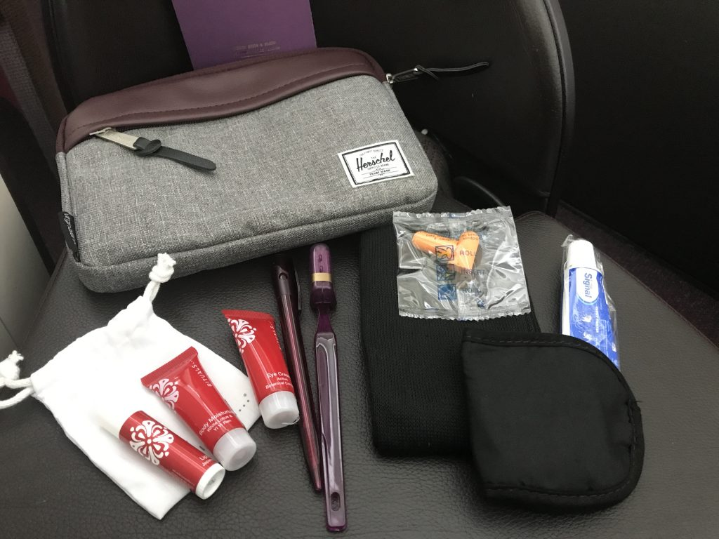 Virgin Atlantic B787 Upper Class Heathrow to Los Angeles review amenity kit