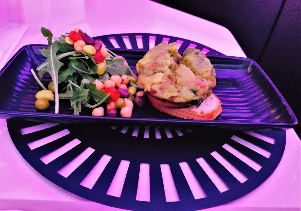 Virgin Atlantic B787 Upper Class Heathrow to Los Angeles review avocado toast