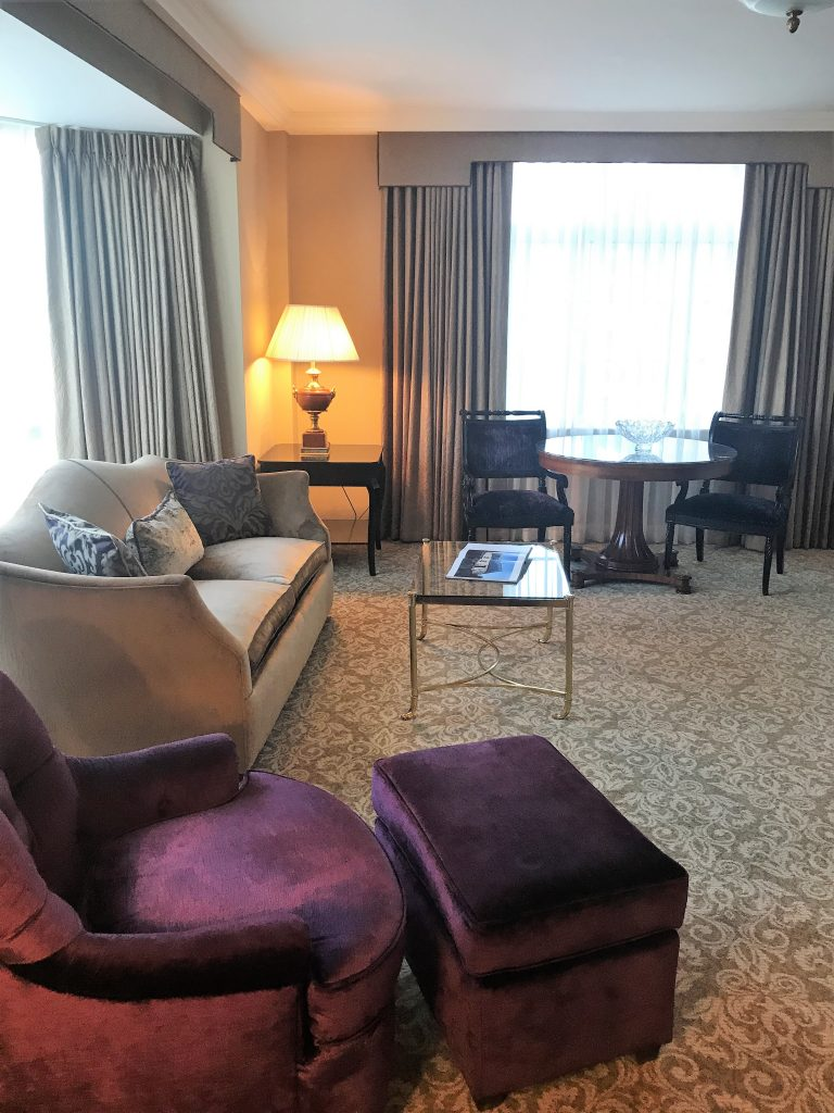 InterContinental Hotel Dublin review Living room