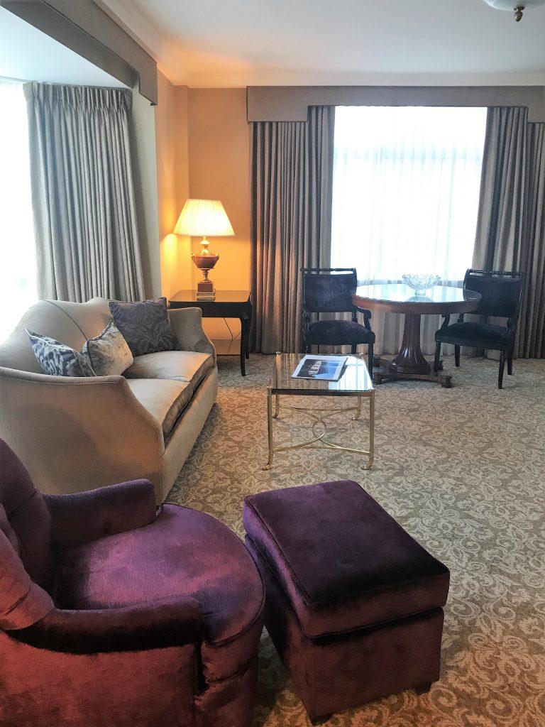InterContinental Hotel Dublin review Living room