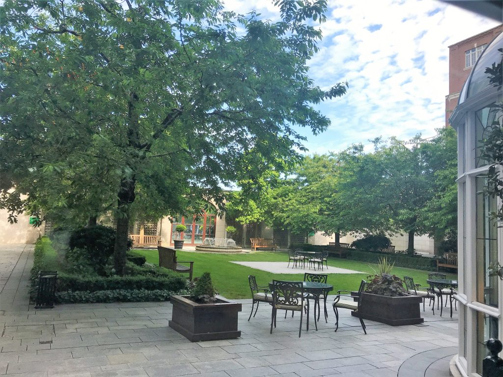 InterContinental Hotel Dublin review courtyard area