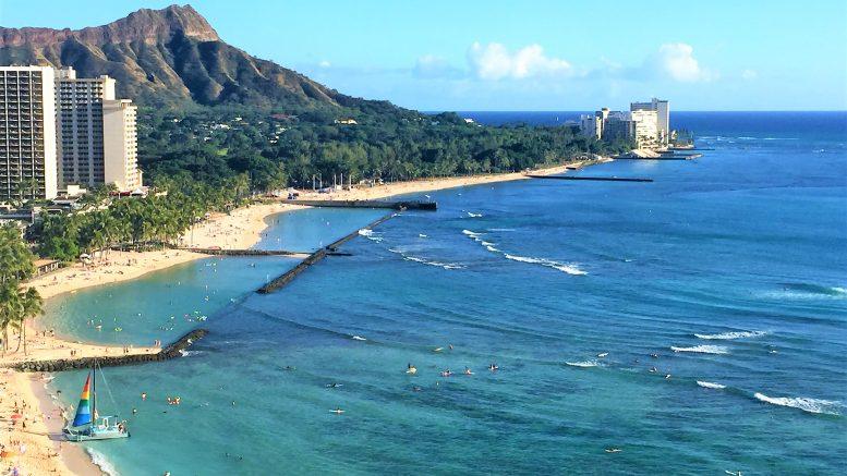 Waikiki beach and Lion's head