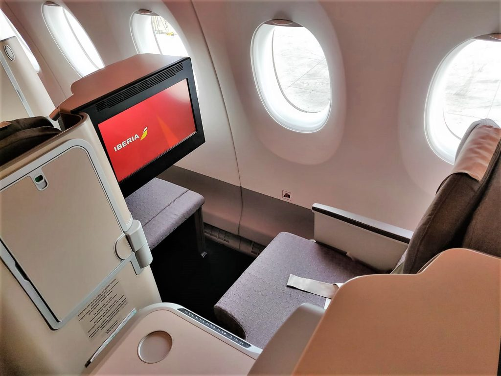 Iberia A350-900 business class review window seat