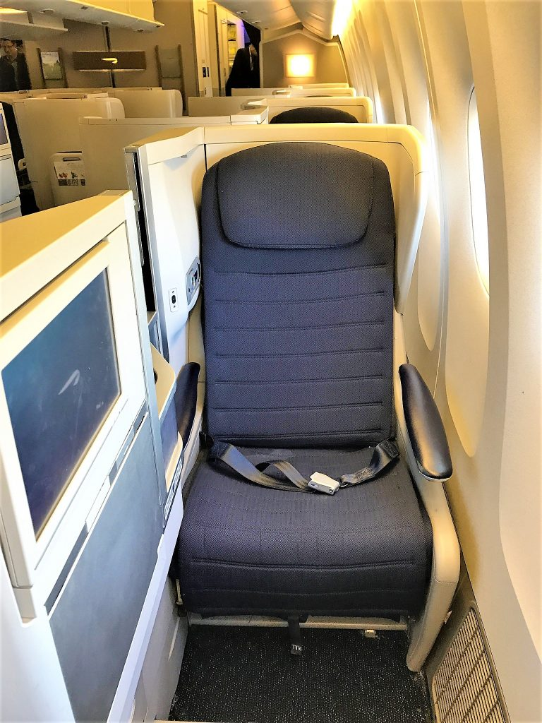 BA B777 Club World seat
