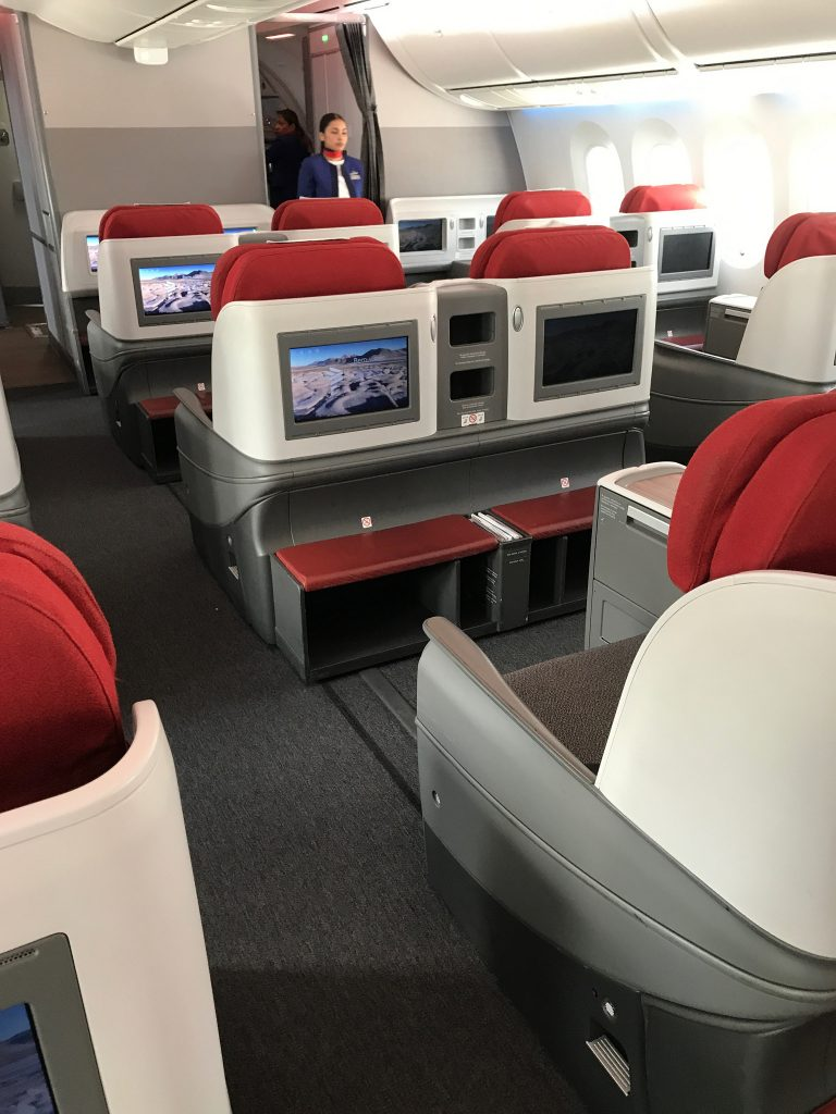 LATAM business class Madrid Frankfurt