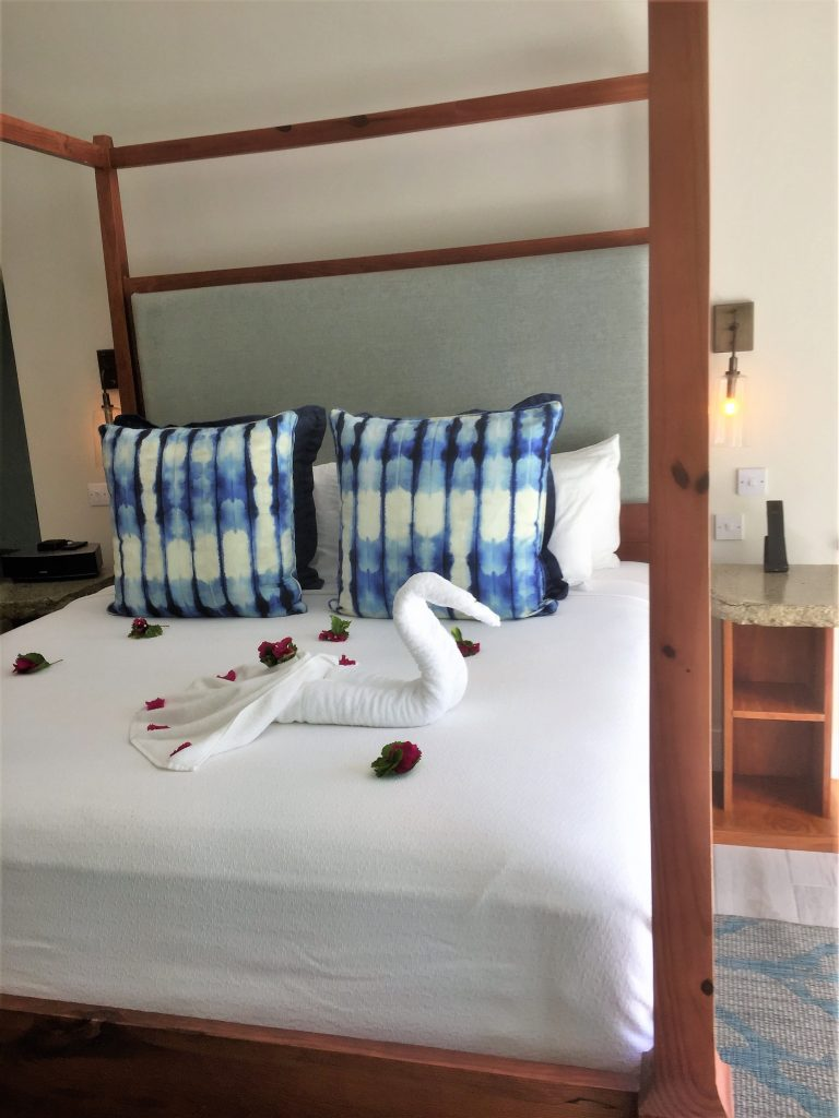 Serenity at coconut Bay st lucia review bed and room