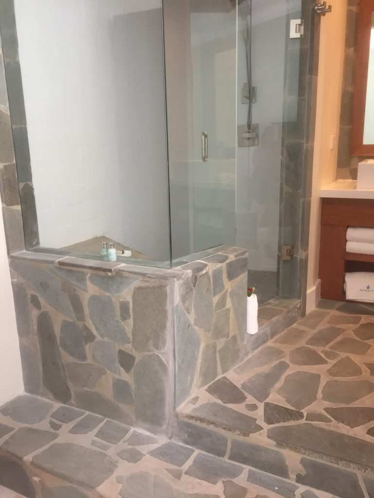 Serenity at coconut Bay st lucia review shower
