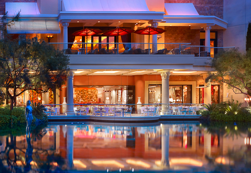 Encore by Wynn hotel Las Vegas review lakeside patio