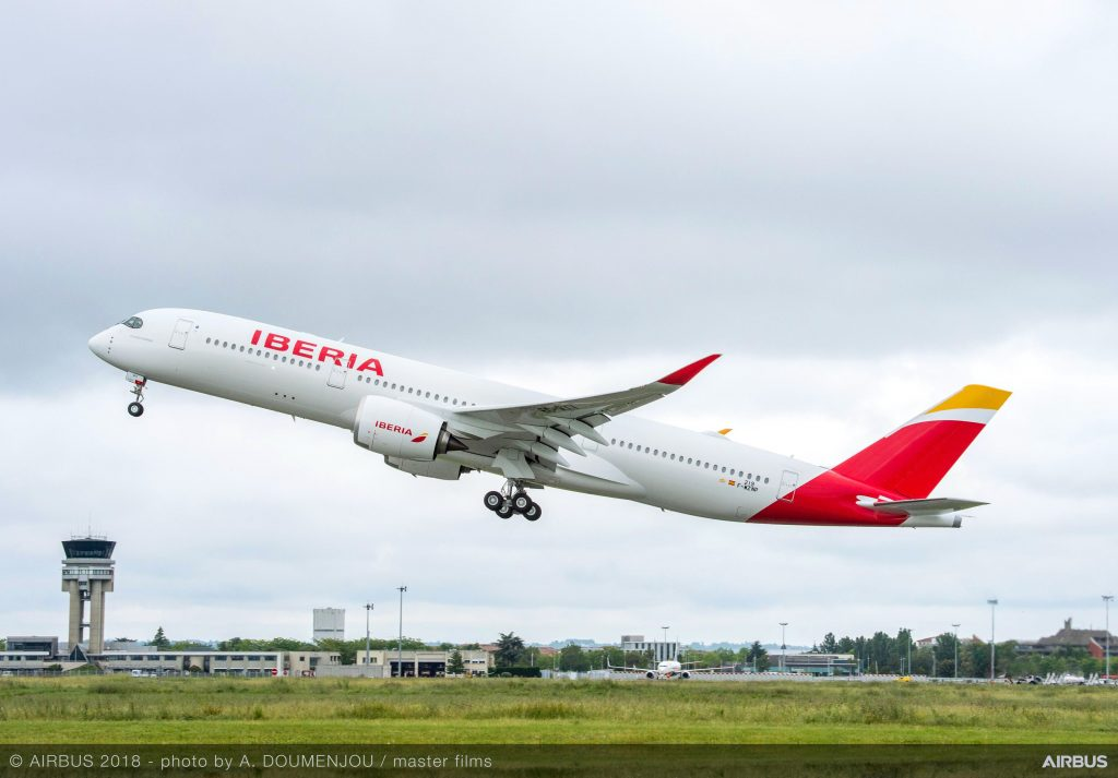 Book Hotel Stays For Nearly 50% Discount in Marriott SPG Merger A350-900-Iberia-MSN219-take-off-008