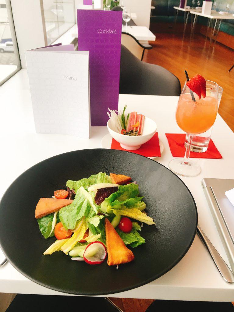 Virgin Atlantic B787 Upper Class night flight review salad