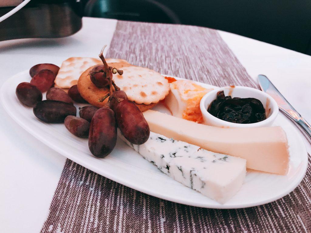 Virgin Atlantic B787 Upper Class night flight review Cheese and port