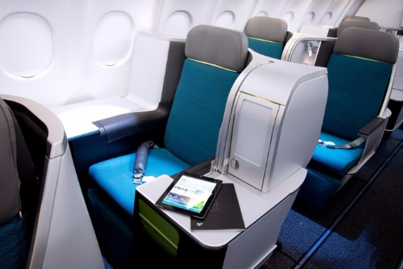 Aer Lingus A330-300 business class throne seat