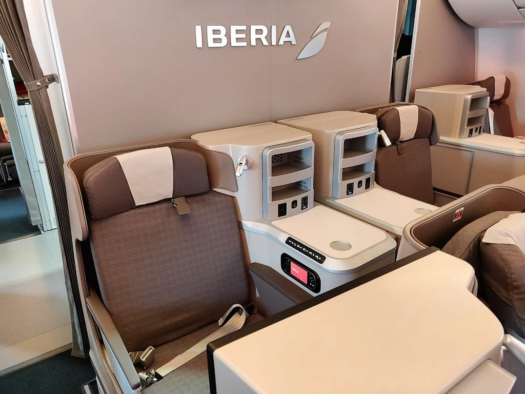 Iberia A350-900 business class review cabin