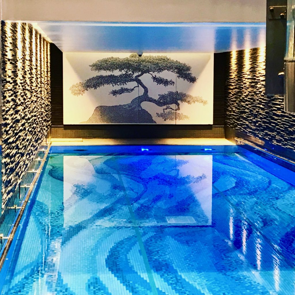 The newly updated pool at the Langham Hotel, London