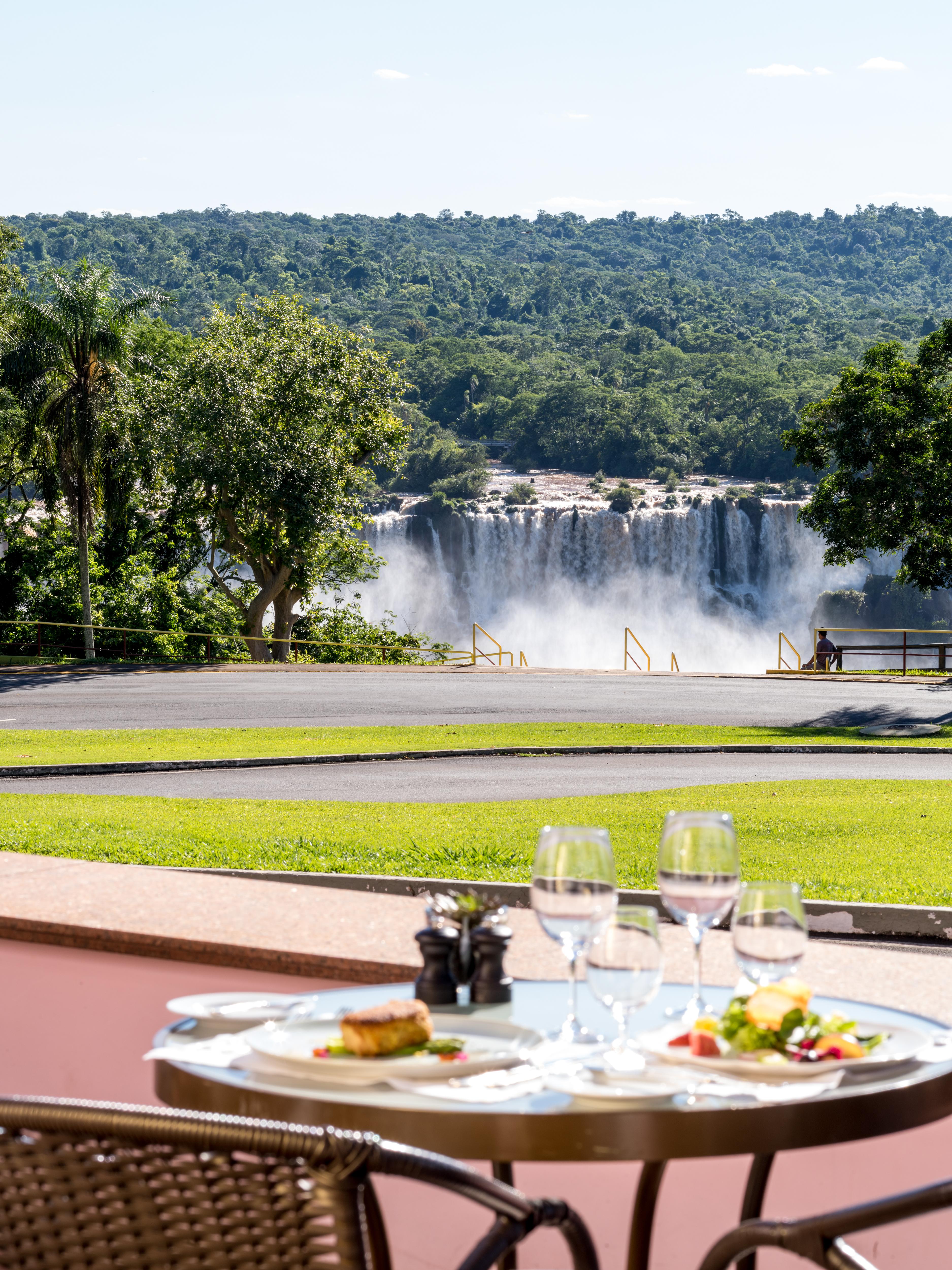 Belmond Hotel das Cataras at Iguassu Falls, Brazil dine by falls