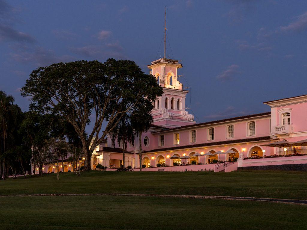 Belmond Hotel das Cataras at Iguassu Falls, Brazil hotel at night