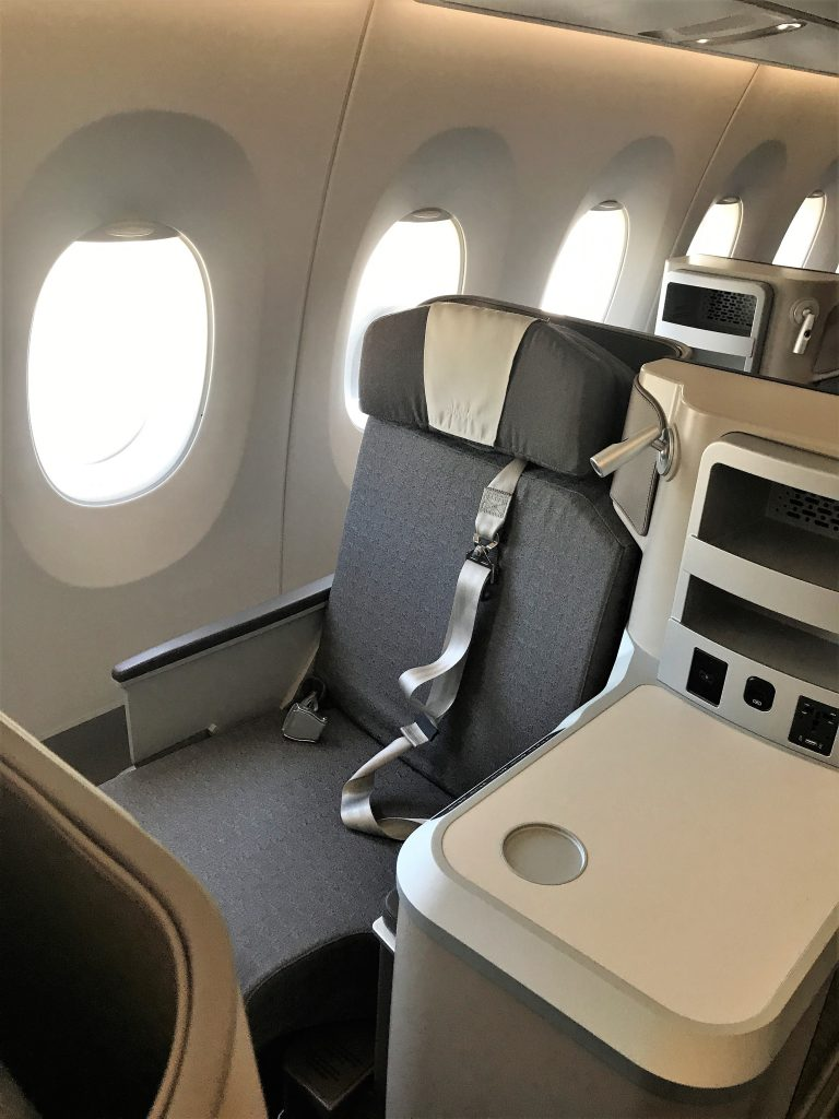 Iberia A350 business class short haul full review seat L