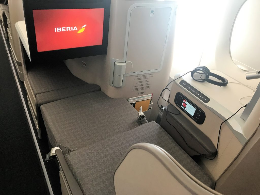 Iberia A350 business class short haul full review bed