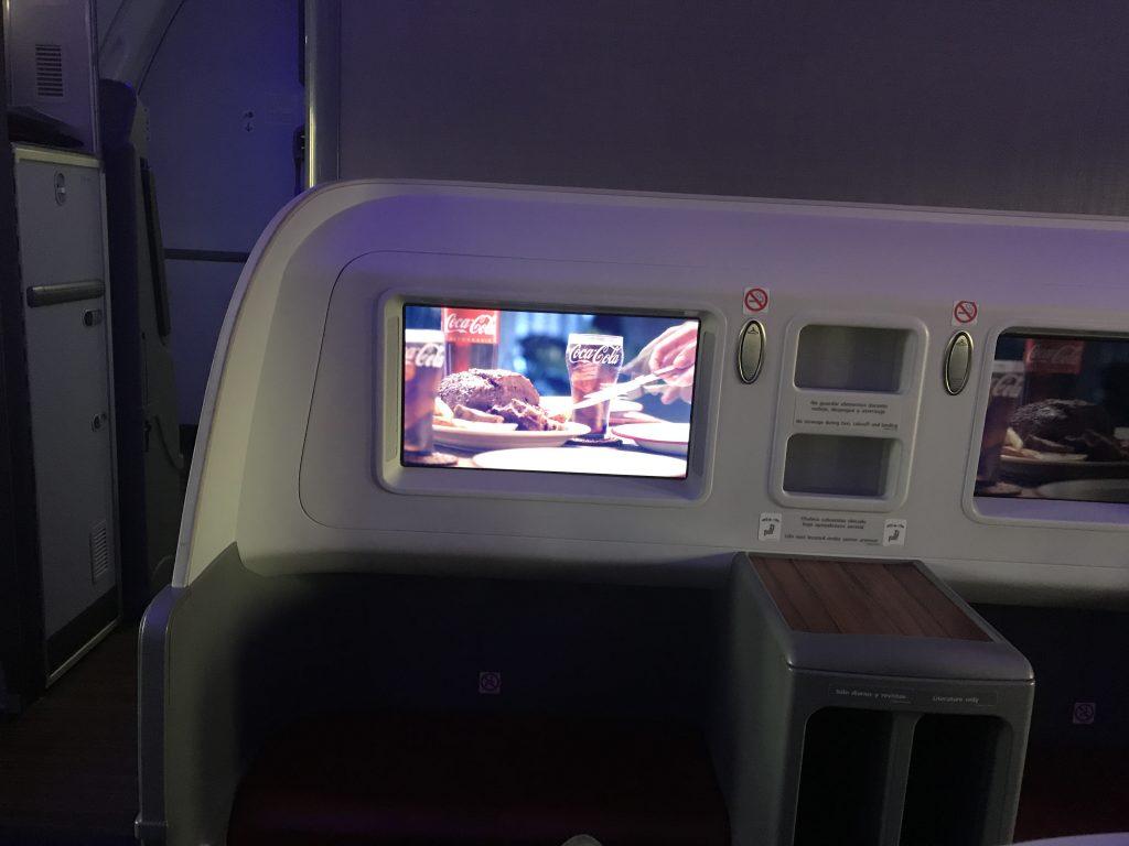 LATAM B787 business class review - Frankfurt to Madrid TV screen