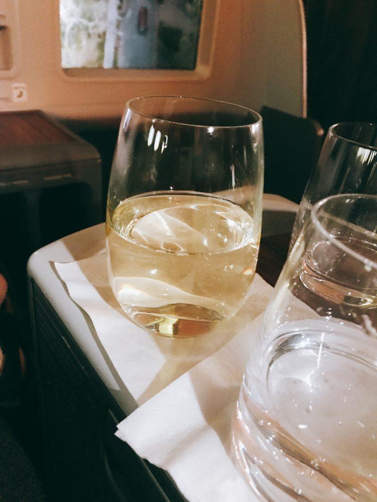 LATAM B787 business class review - Frankfurt to Madrid wine