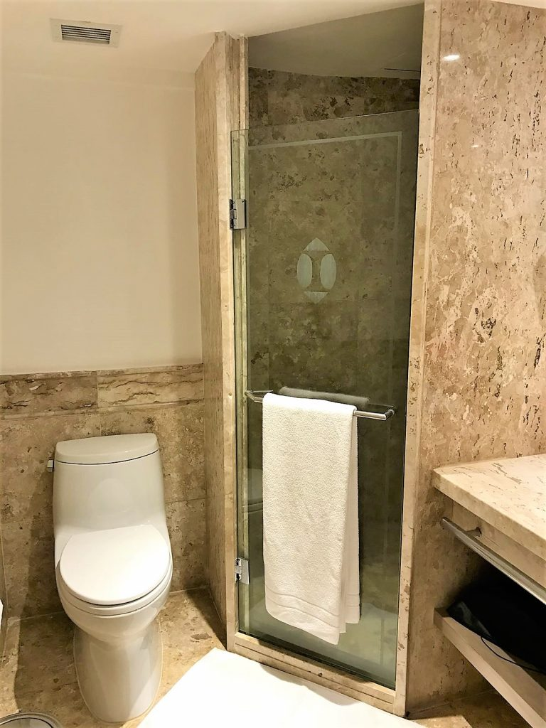 Intercontinental Hotel Sao Paolo Brazil review shower