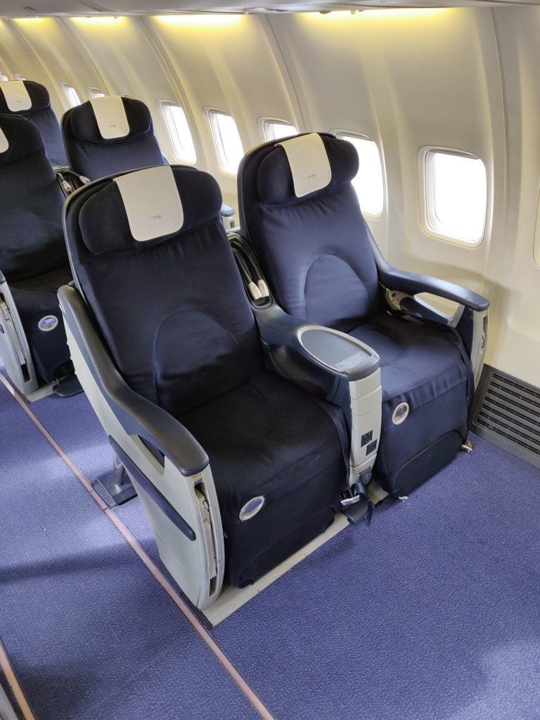 Row 1 on Privatair operating for BA