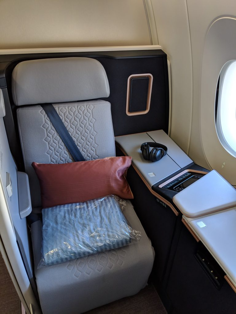 Malaysia Airlines A350 London – Kuala Lumpur First Class review first class suite