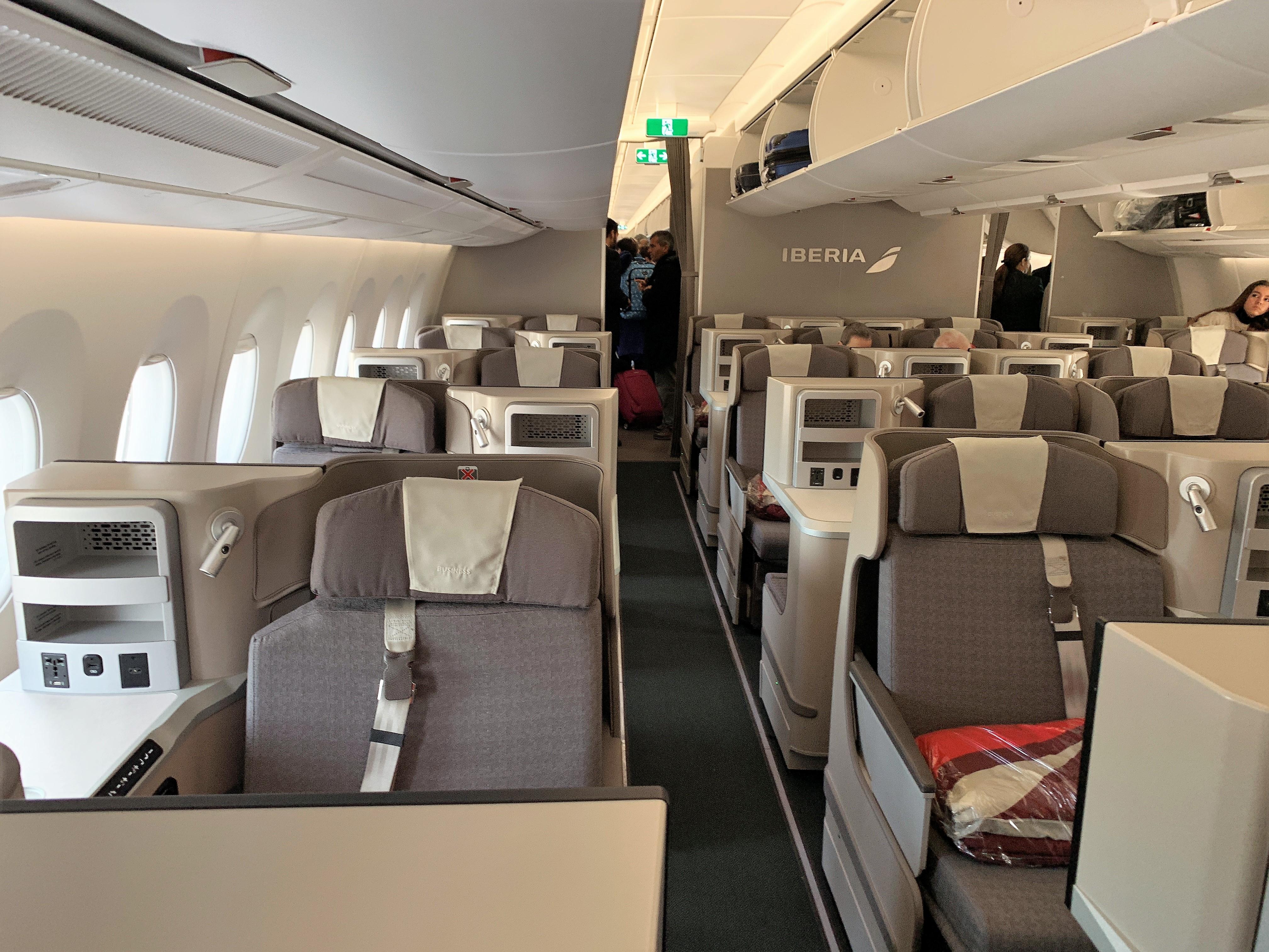 Iberia A350 business class cabin