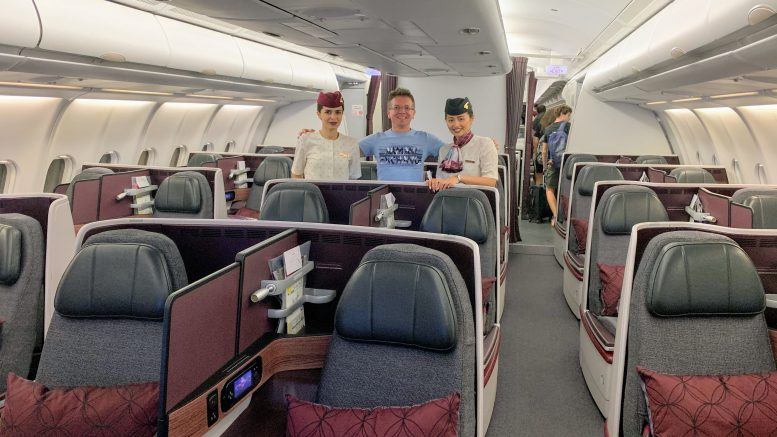 Qatar A330 business class review empty cabin