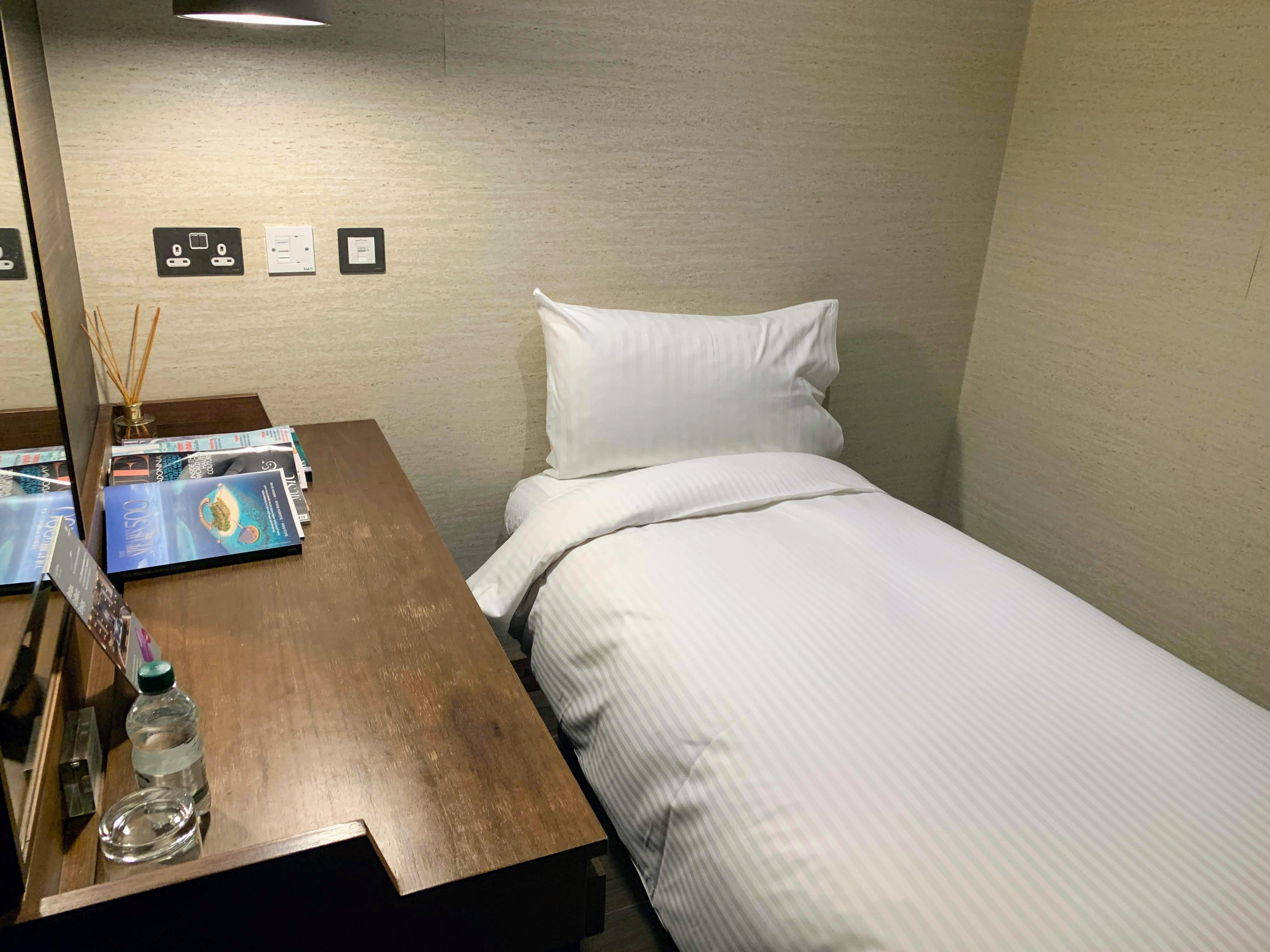 bedroom Plaza Premium arrivals lounge T2