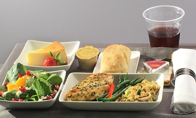 AA Premium Economy dining