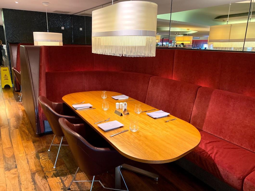 Virgin Clubhouse dining area Heathrow 2