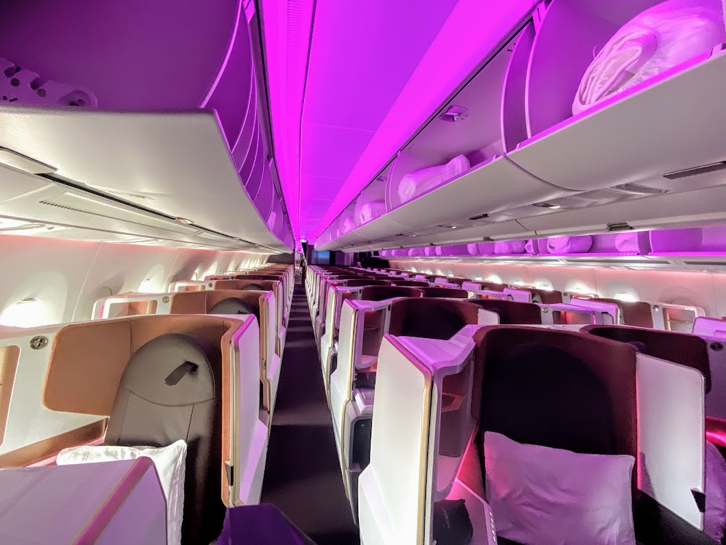 Virgin A350 upper class cabin