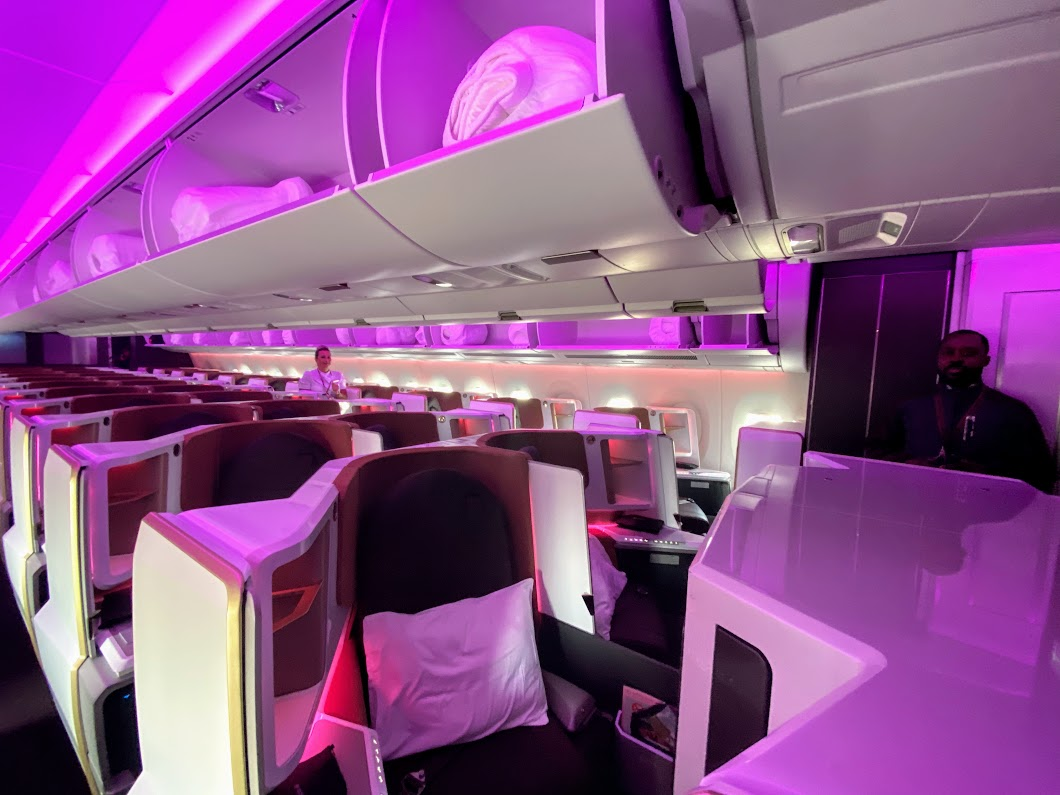 Virgin A350 cabin middle seats