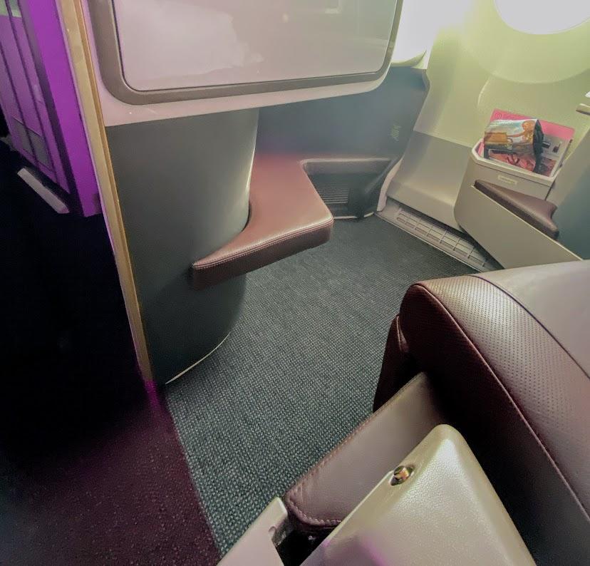 Virgin A350 upper class suite row 1 footwell
